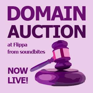 LIVE Domain Auctions by soundbites at Flippa